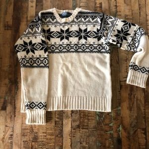 Men's polo holiday sweater